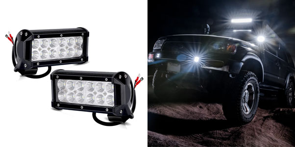 5. TURBOSII 6.5-inch LED Light Bar
