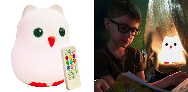 6. Juneta Goodnight Owl Night Light for Kids & Toddlers