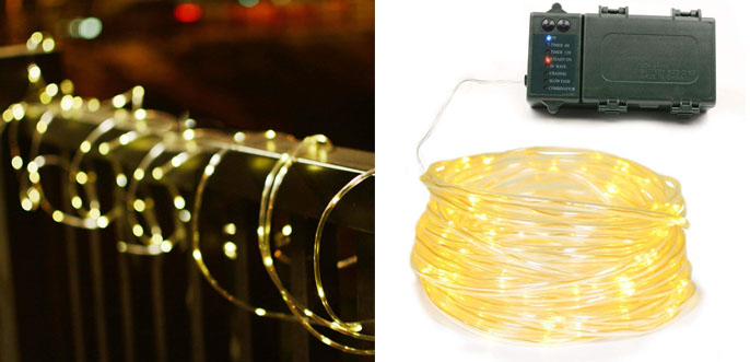 6.Lalapao Solar Rope Lights Twin Pack