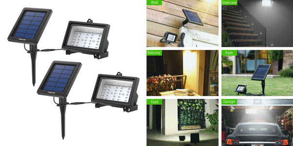 6. Power Add 30 LED Security Flood Lights (2 Pack)