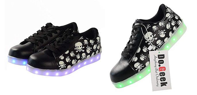7. DoGeek LED Light Up Women Shoes