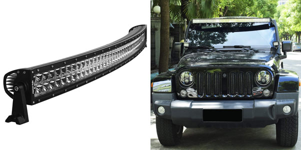 7. Eyourlife Curved LED Light Bar