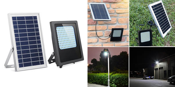 7. HiJi Solar 120 LED Solar Powered Flood Light
