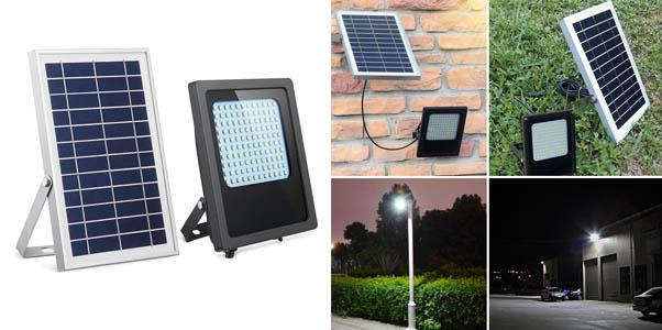 7.HiJi Solar 120 LED Solar Powered Flood Light