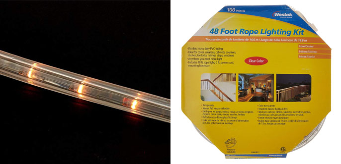 7. Westek RW48BCC Rope Light