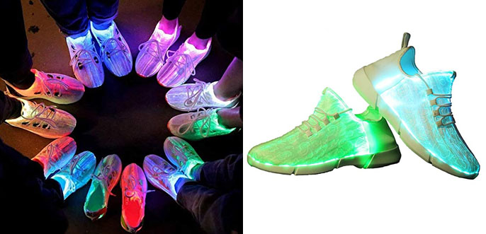 8. Idea Frames Fiber Optic LED Light Up Adult Shoes 2