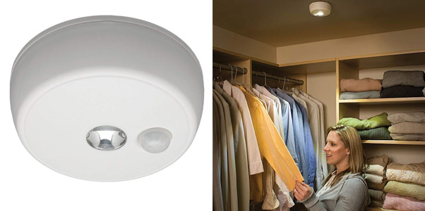 8. Mr Beams 100 Lumen Battery Powered Ceiling Light