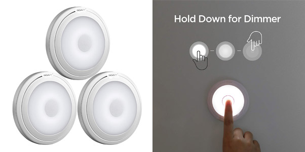 9. SOAIY Touch Light Ultra-Thin Puck Lights