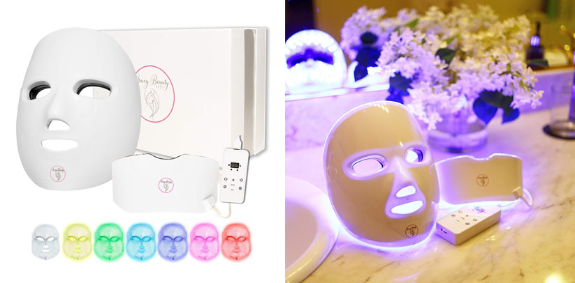 LED Light Therapy 7 Color Wireless Facial Skin Care Mask with Neck