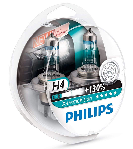 Philips Xtreme Vision H4 & H7 Headlight Bulbs
