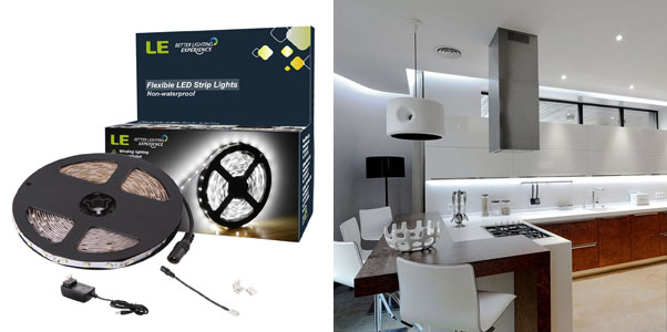 1. LE 12V LED Connectable Light Strip Kit