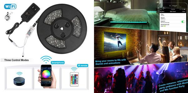 10. Nexlux Smart RGB LED Strip Lights Kit