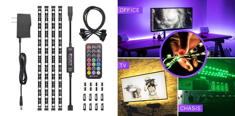 2. HitLights Eclipse RGB LED Light Strip Accent Kit