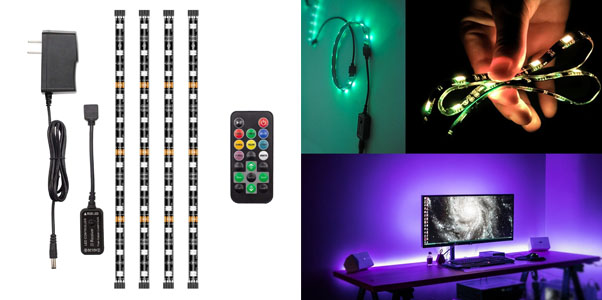 2. HitLights Eclipse RGB LED Light Strip Accent Kit