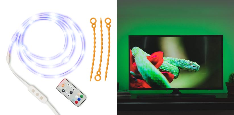 3. Luminoodle Color Bias Lighting 15 Color LED TV Backlight Strip Kit