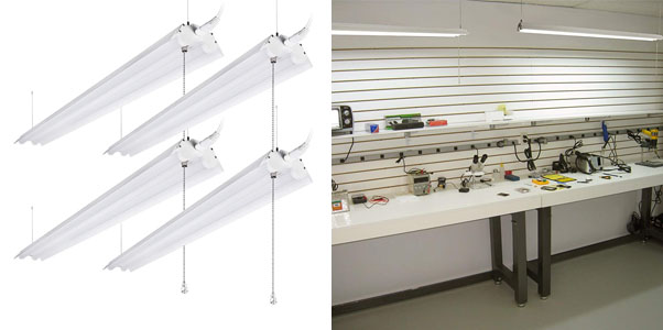 4. LeonLite 4 Foot Linkable Shop Lighting