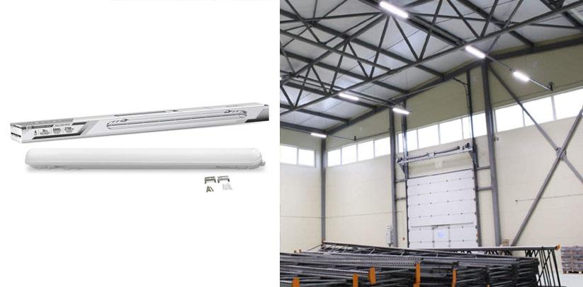 4Ft Led Light Fixture 36W Vapor Proof Led Light Commercial Lights
