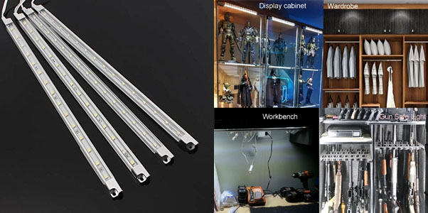 5. Efrank Set of 4 White LED Light Bars