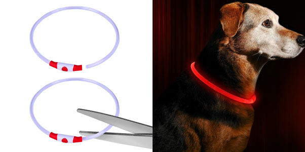 6. BSEEN Trimmable LED Dog Collar