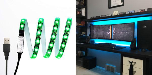 6. eTopxizu Black TV Backlight Kit (USB Powered Strip Light)