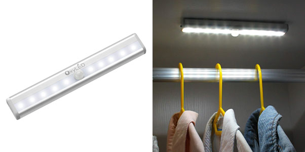 7. OxyLED Battery Powered Motion Sensor Closet Lights