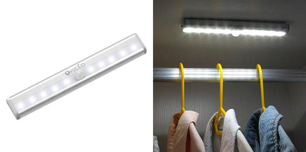 7. OxyLED Battery Powered Motion Sensor Closet Lights