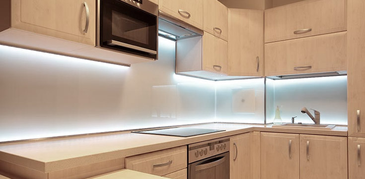How To Install Led Under Cabinet Lighting Kitchen Lighting Led