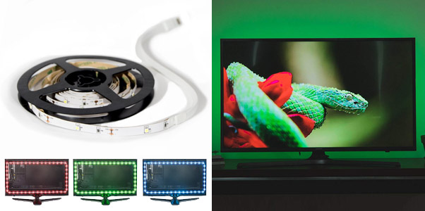 Luminoodle Color Bias Lighting 15 Color LED TV Backlight Strip Kit
