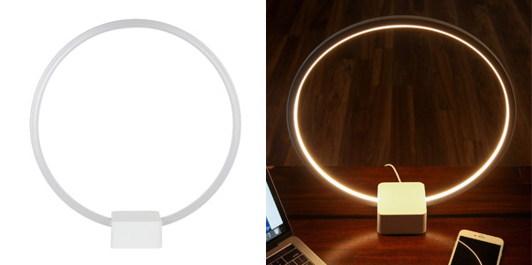 6. Brightech Futuristic Circle LED Desk Light