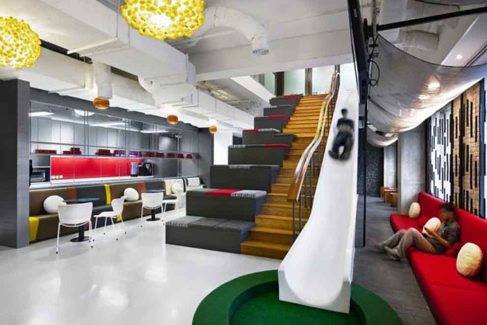 Fun Slide Office Creative Ideas