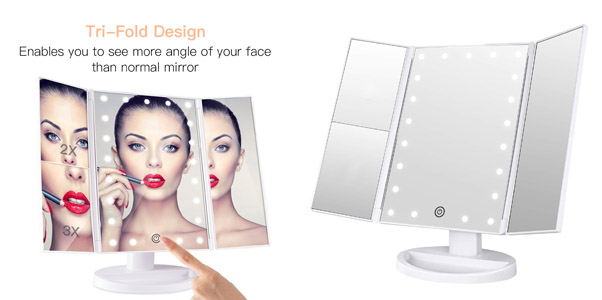 3. BESTOPE Lighted Makeup Vanity Mirror
