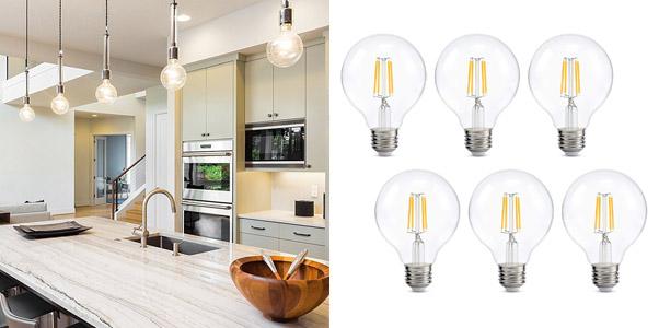 5. Kohree Dimmable LED Edison Globe Lights