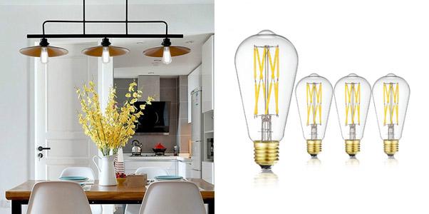 6. Leools LED Dimmable Neutral Light Edison Bulb