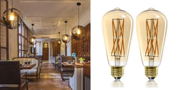 7. LEOOLS 12W Edison Style LED Retro Bulb