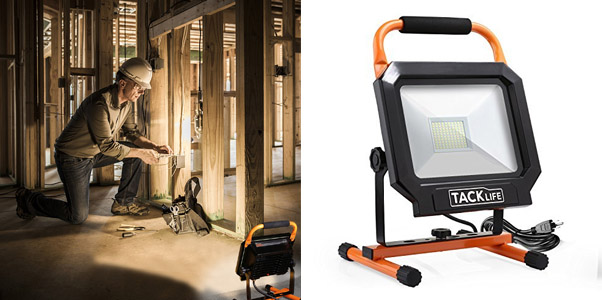 7. Tacklife Adjustable Lighting Angles Work Light