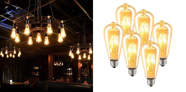 8. Luxon LED Dimmable Antique Vintage Style Edison Bulb