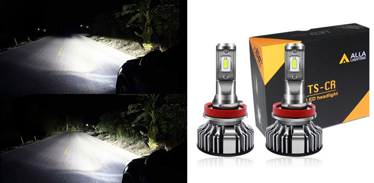 Alla Lighting Extremely Bright LED H11 Headlight Bulbs