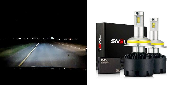 SNGL Super Bright Adjustable LED Headlight Conversion Kit