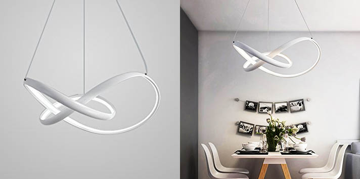 1. LightInTheBox Modern Chic LED Ring Chandelier