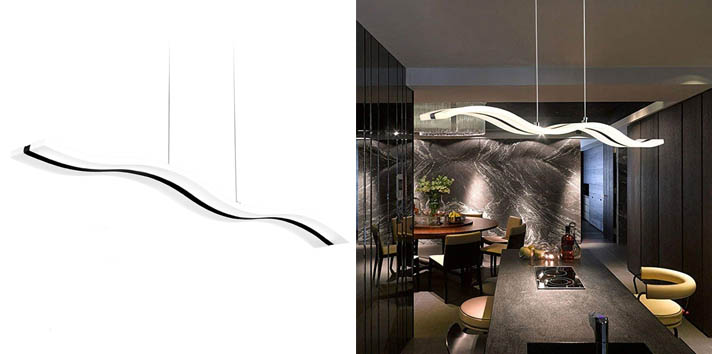 10. Create for Life Modern Wave Chandelier
