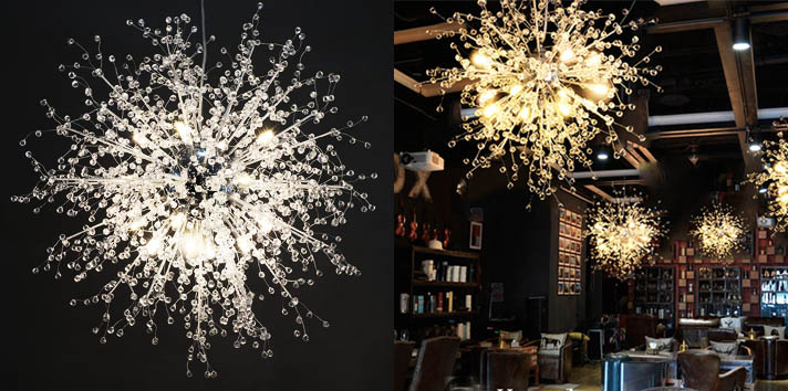 2. GDNS Chandeliers Firework Stainless Steel LED