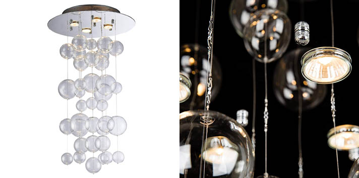 9. Saint Mossi Modern Glass Raindrop Chandelier