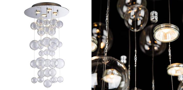 9. Saint Mossi Modern Glass Raindrop Chandelier