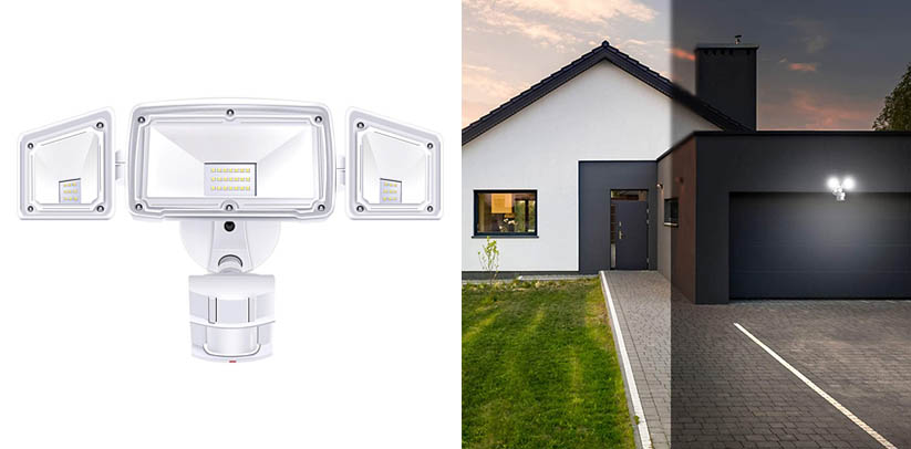 Amico 3 Head LED Security Lights Motion Outdoor Motion Sensor Light
