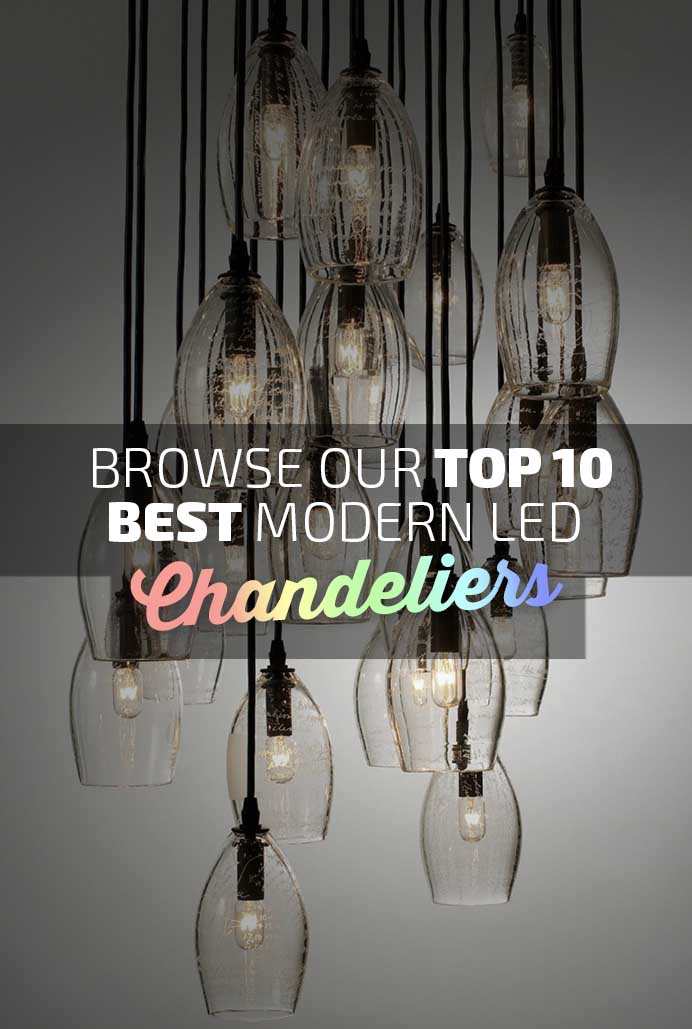 Best LED Modern Chandeliers Banner