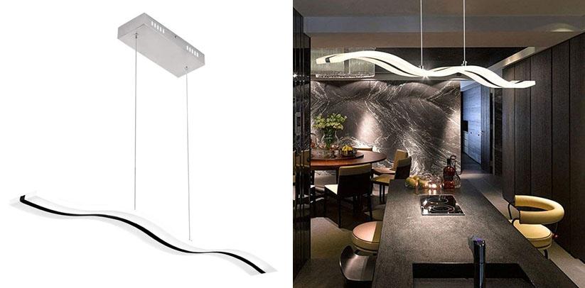 Create For Life Modern Wave LED Pendant Light