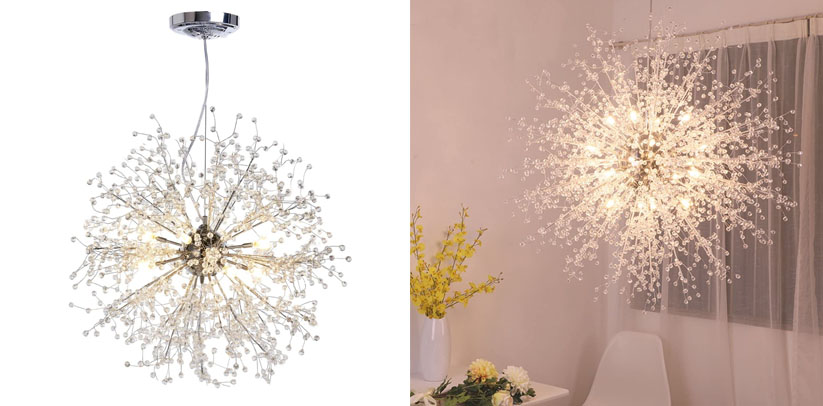 GDNS Chandeliers Firework Stainless Steel LED