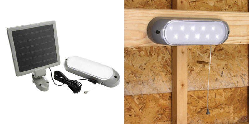 1. Designers Edge L-949 Rechargeable Solar Shed Lights