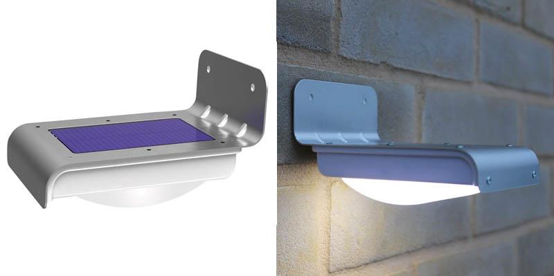 3. Frostfire 16 LED Wireless Solar Powered Motion Sensor Light