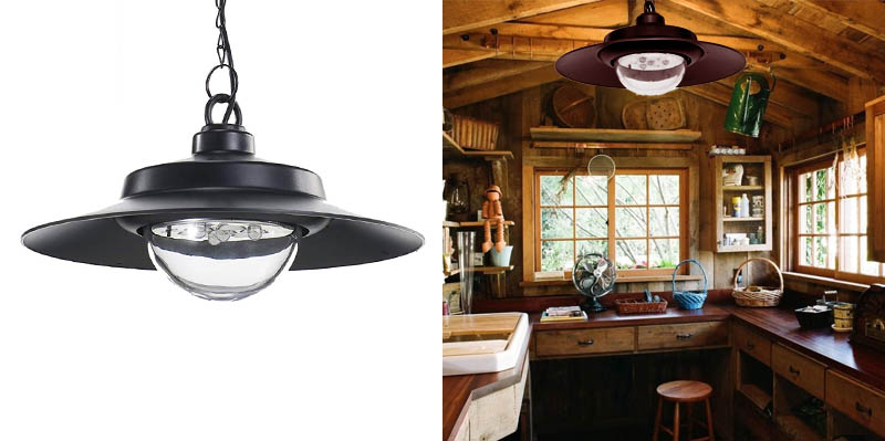 6. Nature Power 21030 Hanging Solar Powered LED Shed Light with Remote Control